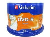 Verbatim DVD-R 4,7GB 16x - Spindle 50 τεμ - Μέσο αποθήκευσης