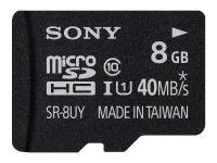 Κάρτα μνήμης microSDHC 8GB Class 10 & Adapter - Sony SR8UYA