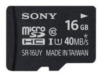 Κάρτα μνήμης microSDHC 16GB Class 10 & Adapter - Sony SR16UYA