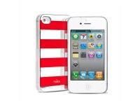Θήκη iPhone 4/4s - Puro Stripe Cover Κόκκινο