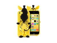 Θήκη iPhone 5/5s/5c - Puro Happy Cartoon Zebra IPCCZEBRA3DYEL Κίτρινο