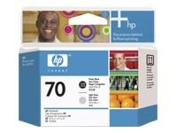 HP 70 Ανοικτό γκρί. φωτογραφικό μαύρο