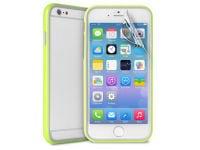 Θήκη iPhone 6/6S Plus & Μεμβράνη οθόνης - Puro Bumper Cover IPC655BUMPERGRN Πράσινο