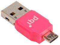 Αντάπτορας PQI USB σε Micro USB Connect 203 0012R014J Ροζ