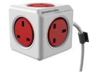 Πολύπριζο Powercube Extended Λευκό/Κόκκινο