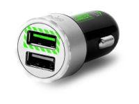 Puro Car Charging Dual FCMCH2USB24RBLK USB Φορτιστής Αυτοκινήτου Μαύρο