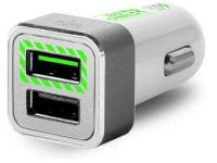 Puro Car Charging Dual FCMCH2USB24SWHI USB Φορτιστής Αυτοκινήτου Λευκό