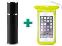 "Powerbank USB Puro External Battery 2200 mAh Μαύρο + Δώρο Αδιάβροχη Θήκη Smartphone έως 5.1"" Κίτρινο"