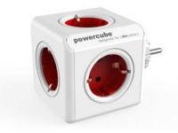 Powercube Original - Πολύμπριζο - Λευκό-Κόκκινο