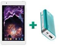 "eStar Gemini Tablet 8"" 8GB Λευκό & Trust Powerbank 19858"