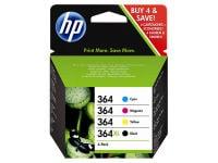 Μελάνι Μαύρο & Έγχρωμο HP Inkjet 364 Combo Pack (N9J73AE)