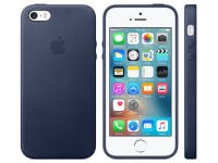 Θήκη iPhone SE - Apple Leather Case Midnight Blue (MMHG2ZM/A)