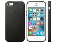 Θήκη iPhone SE - Apple Leather Case Black (MMHH2ZM/A)