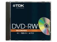 TDK DVD+RW 1x-4x 4.7GB - JewelCase - Μέσο αποθήκευσης