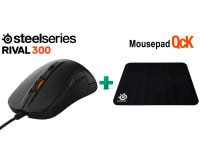 SteelSeries Rival 300 & Δώρο Mousepad SteelSeries QcK - Gaming Mouse Μαύρο