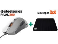 SteelSeries Rival 300 & Δώρο Mousepad SteelSeries QcK - Gaming Mouse Λευκό