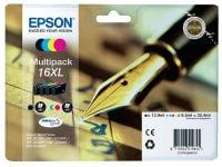 Μελάνι Μαύρο & Έγχρωμο Epson T1636 (C13T16364010)