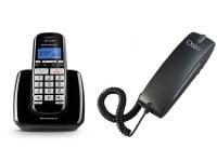 Motorola S3001 Ασύρματο Τηλέφωνο Μαύρο & Osio OSW-4600B Ενσύρματο Τηλέφωνο