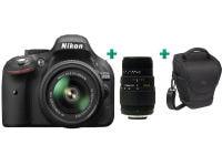 DSLR Nikon D5200 Kit 18-55mm VR II & Φακός Sigma 70-300mm & Θήκη Μεταφοράς