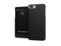 Θήκη iPhone 7 Plus - iPaint Pois Hard Case Μαύρο