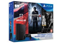 Sony PlayStation 4 - 1TB Slim D Chassis & Uncharted 4: Το Τέλος Ενός Κλέφτη & DriveClub & The Last of Us Remastered