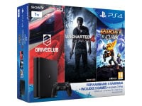 Sony PlayStation 4 - 1TB Slim D Chassis & Uncharted 4: Το Τέλος Ενός Κλέφτη & DriveClub & Ratchet & Clank