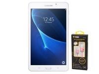 """Samsung Galaxy Tab A SM-T280 - Tablet 7"""" WiFi 8GB Λευκό & Δώρο Καλώδιο microUSB Κόκκινο"""