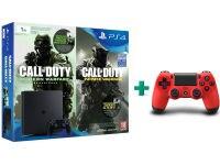 Sony PlayStation 4 - 1TB Slim D Chassis & Call of Duty: Infinite Warfare Legacy Edition (Digital) & 2ο χειριστήριο (κόκκινο)