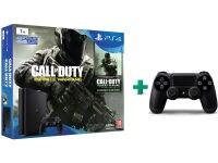 Sony PlayStation 4 - 1TB Slim D Chassis & Call of Duty: Infinite Warfare Legacy Edition & 2ο χειριστήριο (μαύρο)