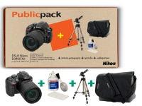 Public Pack: DSLR Nikon D3400 & 18-105 VR & Τσάντα Μεταφοράς Nikon & Τρίποδο Hama
