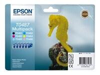 Μελάνι Epson Multipack T0487 Μαύρο. έγχρωμο