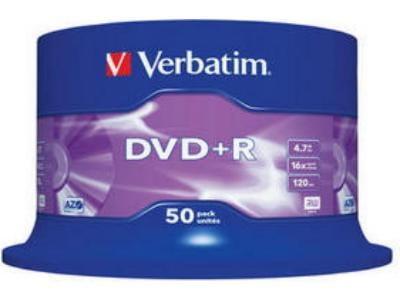 Verbatim DVD+R 16x 4,7GB - Spindle 50 τεμ - Μέσο αποθήκευσης