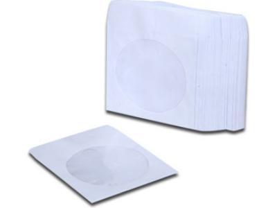 Χάρτινα Φακελάκια mini DVD (8cm) με παράθυρο 25 τεμάχια - Λευκό