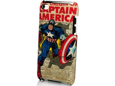 Marvel Captain America Newspaper - Θήκη MP3 player - Μπλε