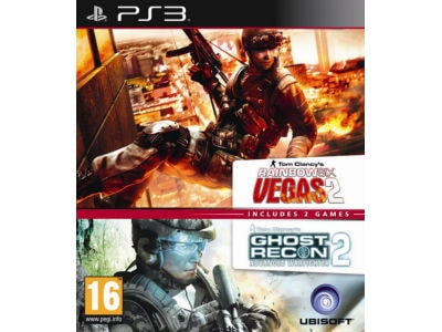 Ghost Recon Advanced Warfighter 2 & Rainbow Six Vegas 2 - PS3 Game gaming   παιχνίδια ανά κονσόλα   ps3