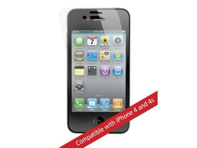 Power Support - HD Anti-Glare Film Set - iPhone 4-4S