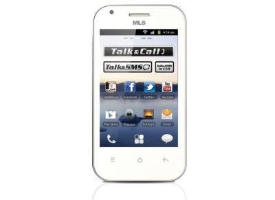 Smartphone MLS iQTalk Crystal Dual Sim 4GB Λευκό