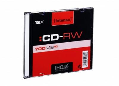 Intenso CD-RW 12x 700MB 80min SlimCase - 1 τεμ - Μέσο αποθήκευσης