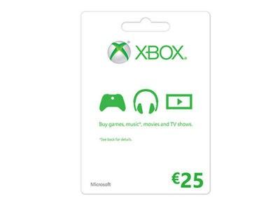 Microsoft Xbox Live 25 Euro - Prepaid Card