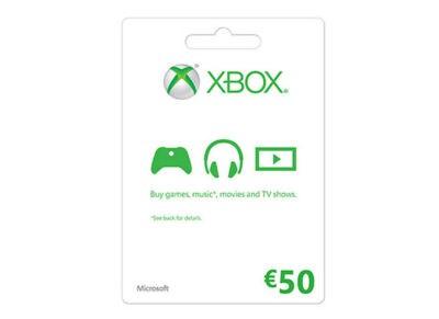 Microsoft Xbox Live 50 Euro - Prepaid Card