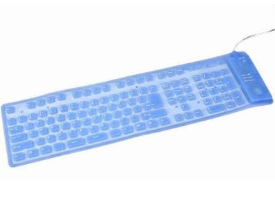 Gembird Flex KB-109FEL1-BL-US - Πληκτρολόγιο - Μπλε