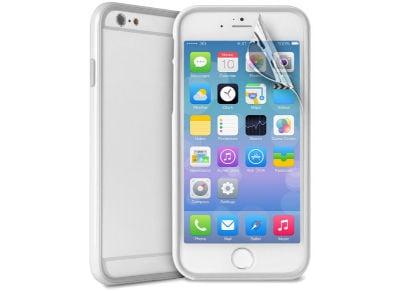 Θήκη iPhone 6/6S & Μεμβράνη οθόνης - Puro Bumper Cover IPC647BUMPERWHI Λευκό