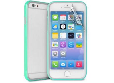 Θήκη iPhone 6/6S Plus & Μεμβράνη οθόνης - Puro Bumper Cover IPC655BUMPERACQUA Μπλε
