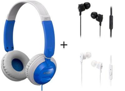 Ακουστικά Κεφαλής TDK ST100 & TDK IP150 - Μπλε