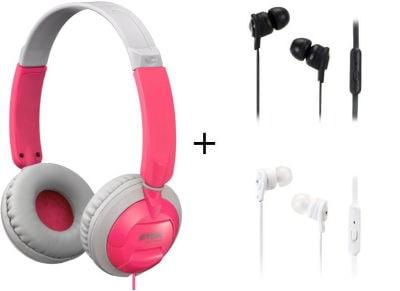 Ακουστικά Κεφαλής TDK ST100 & TDK IP150 - Ροζ