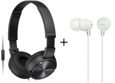Ακουστικά Sony MDR ZX310APB & MDR EX15LPW Μαύρο/Λευκό