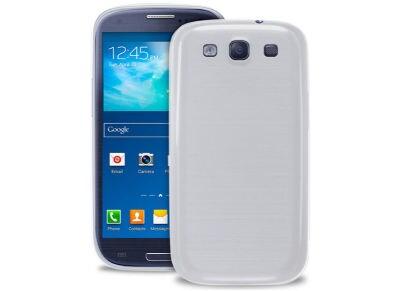 Θήκη & Μεμβράνη Samsung Galaxy S3 - Puro 0.3 Ultra Slim Cover Ημιδιαφανές Λευκό (SGS303TR)