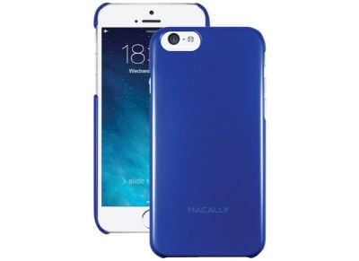 Θήκη iPhone 6/6S - Macally Snap On Metallic Case Μπλε (SNAPP6M-BL)