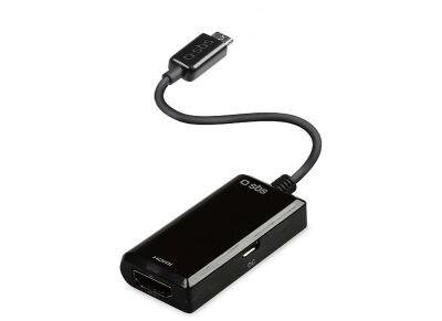 Καλώδιο micro USB σε HDMI 10 cm - SBS cable - Μαύρο