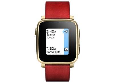 Smartwatch Pebble Time Steel Χρυσό